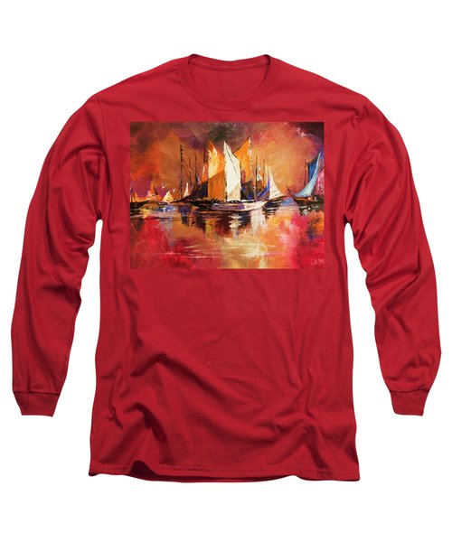 Anchored At Sunset Long Sleeve T-Shirt