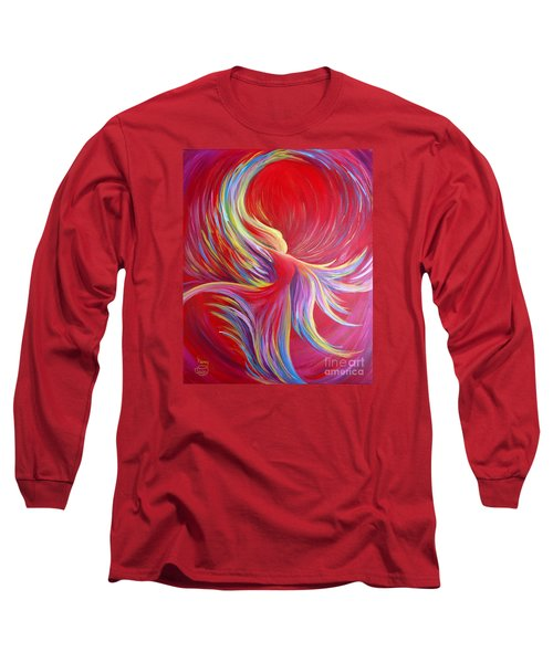 Angel Dance Long Sleeve T-Shirt by Nancy Cupp