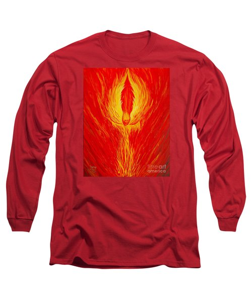 Angel Fire Long Sleeve T-Shirt by Nancy Cupp