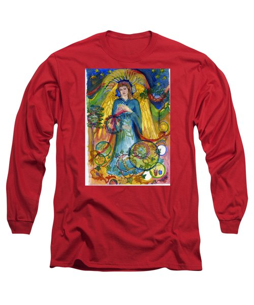 Angel In Blue Long Sleeve T-Shirt