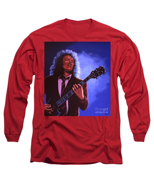 Angus Young Of Ac / Dc Long Sleeve T-Shirt