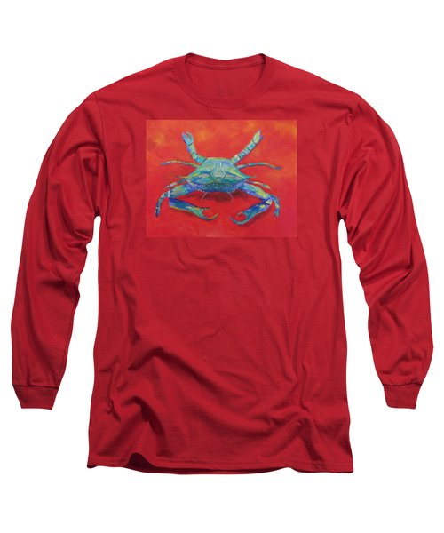 Another Red Crab Long Sleeve T-Shirt by Anne Marie Brown
