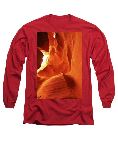 Long Sleeve T-Shirt featuring the photograph Antelope Canyon In Winter Light 1 by Alan Vance Ley