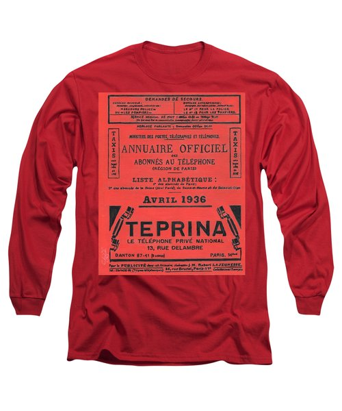 April In Paris 1936 Long Sleeve T-Shirt