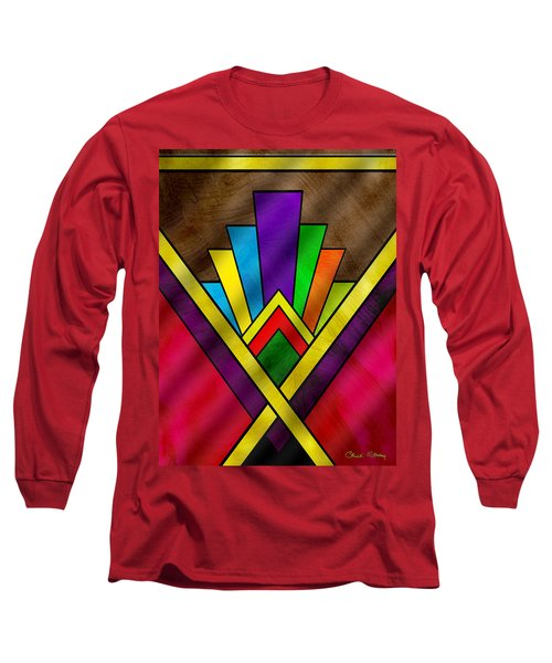 Art Deco Pattern 7v Long Sleeve T-Shirt