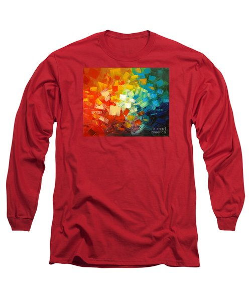 Long Sleeve T-Shirt featuring the painting Art Lovers by Tatiana Iliina