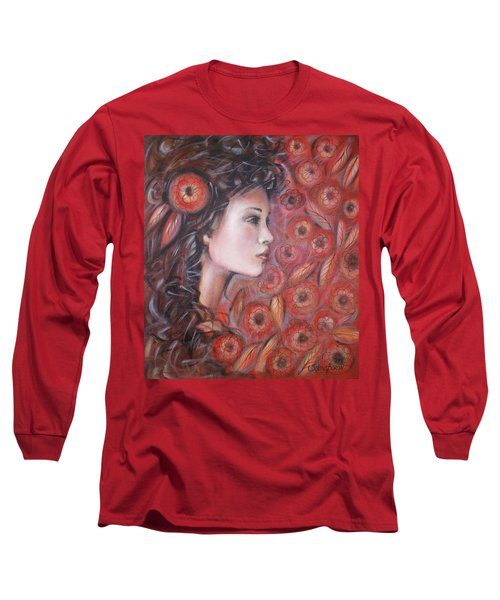 Asian Dream In Red Flowers 010809 Long Sleeve T-Shirt