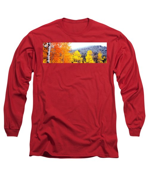 Aspen Trees In A Forest, Blacktail Long Sleeve T-Shirt