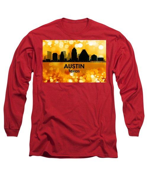 Austin Tx 3 Long Sleeve T-Shirt by Angelina Vick