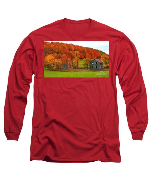 Long Sleeve T-Shirt featuring the photograph Autumn Abandoned by Terri Gostola