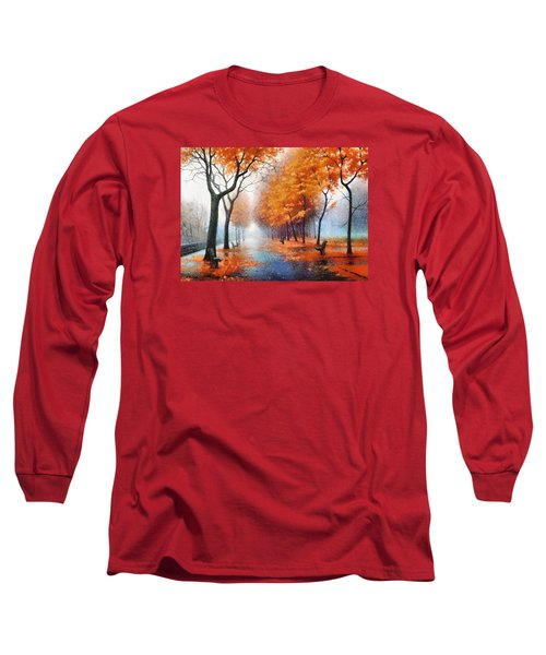 Autumn Boulevard Long Sleeve T-Shirt by Charmaine Zoe