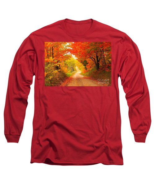 Long Sleeve T-Shirt featuring the photograph Autumn Cameo 2 by Terri Gostola