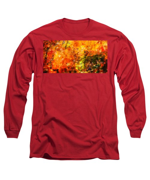 Long Sleeve T-Shirt featuring the digital art Autumn Colors by Aaron Berg