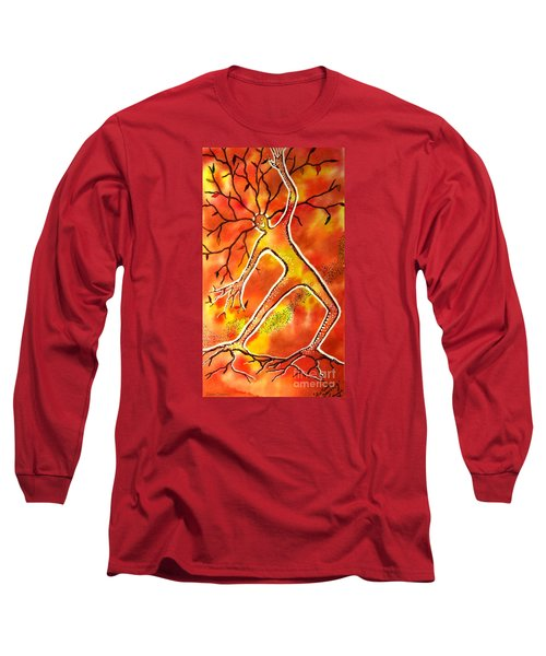 Autumn Dancing Long Sleeve T-Shirt by Leanne Seymour