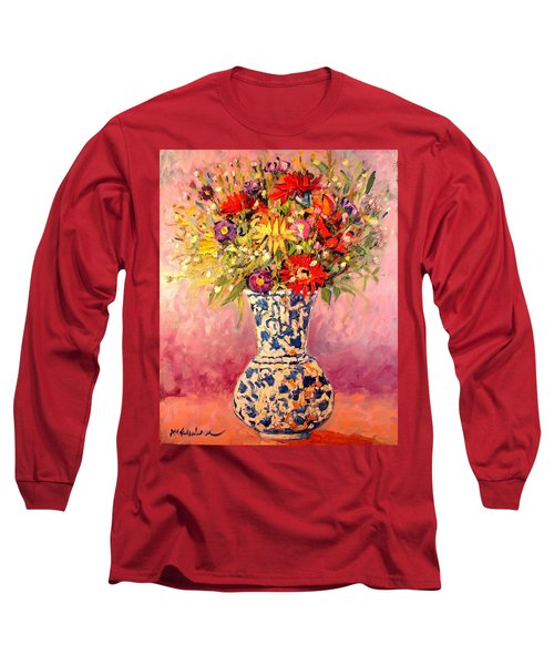Autumn Flowers Long Sleeve T-Shirt by Ana Maria Edulescu