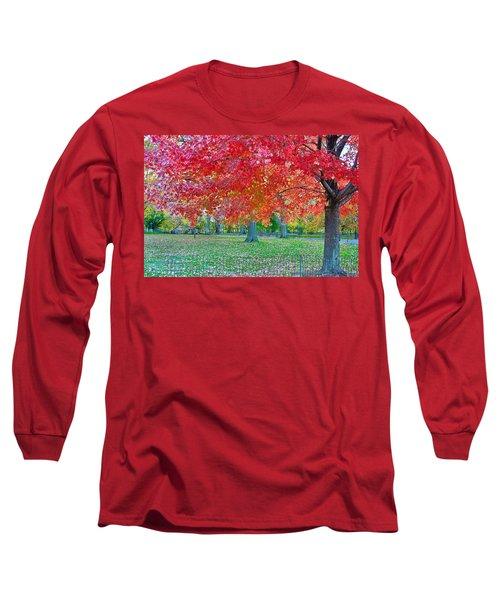 Autumn In Central Park Long Sleeve T-Shirt