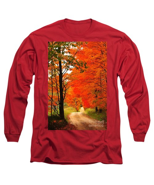 Long Sleeve T-Shirt featuring the photograph Autumn Orange 2 by Terri Gostola