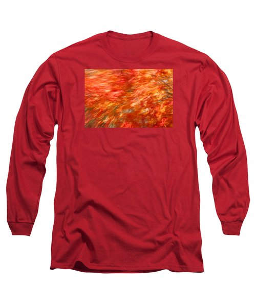 Long Sleeve T-Shirt featuring the photograph Autumn River Of Flame by Jeff Folger