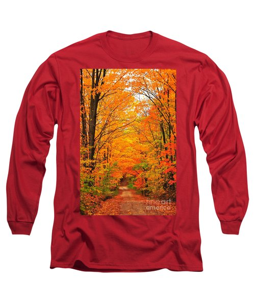 Autumn Tunnel Of Trees Long Sleeve T-Shirt