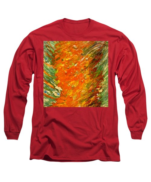 Long Sleeve T-Shirt featuring the painting Autumn Wind by Joan Reese