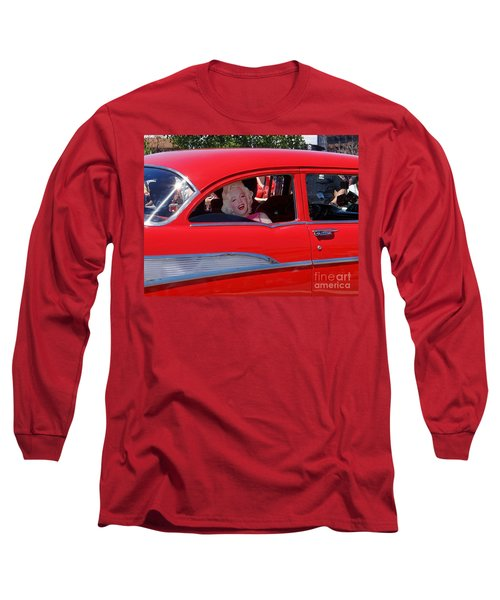 Long Sleeve T-Shirt featuring the photograph Back Seat Marilyn by Ed Weidman