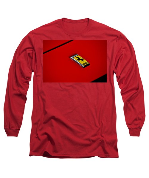 Badge In Red Long Sleeve T-Shirt by Dean Ferreira