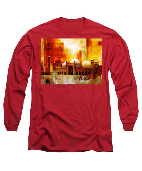 Badshahi Mosque Or The Royal Mosque Long Sleeve T-Shirt by Catf