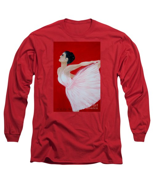 Ballerina.  Grace. Inspirations Collection Long Sleeve T-Shirt by Oksana Semenchenko