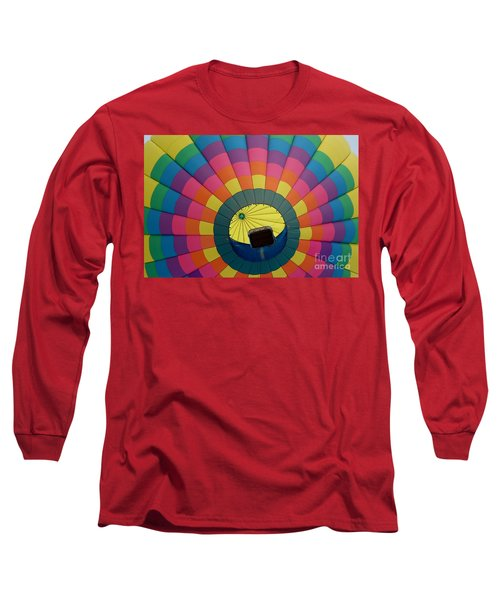 Balloon Lift-off  Long Sleeve T-Shirt by Patrick Shupert