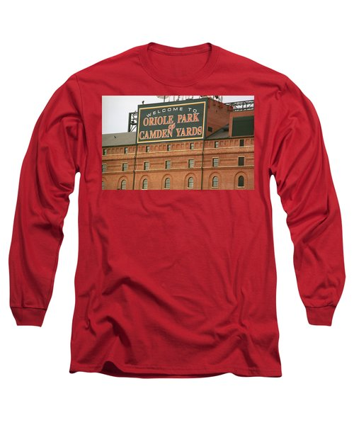 Baltimore Orioles Park At Camden Yards Long Sleeve T-Shirt by Frank Romeo