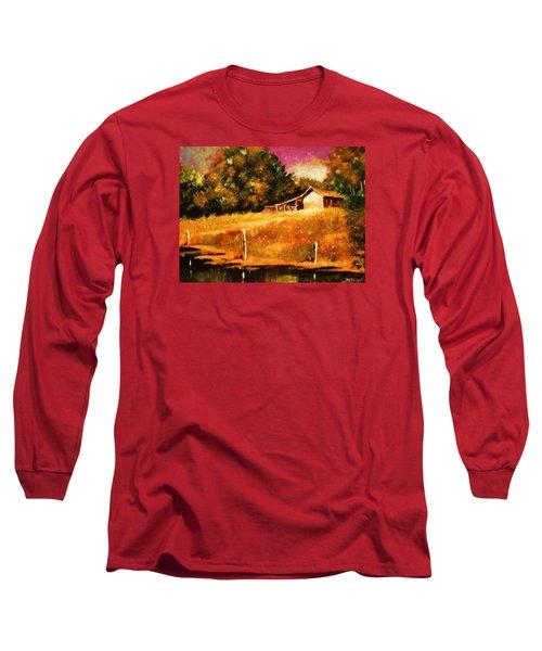 Barn Above The Creekbed Long Sleeve T-Shirt
