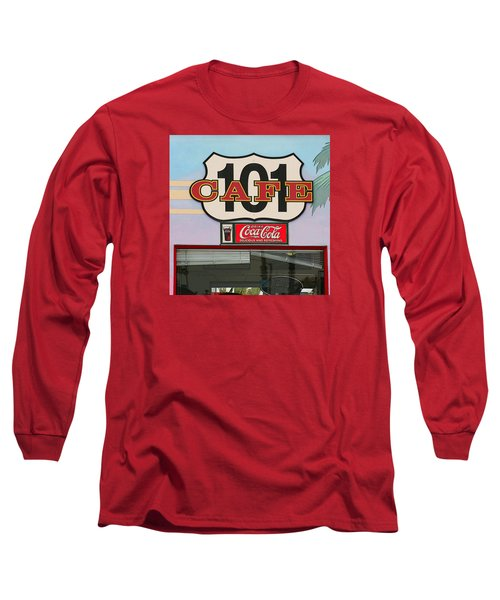 Beach Cafe Long Sleeve T-Shirt by Art Block Collections