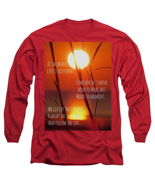Long Sleeve T-Shirt featuring the photograph Beach Quote by Nikki McInnes