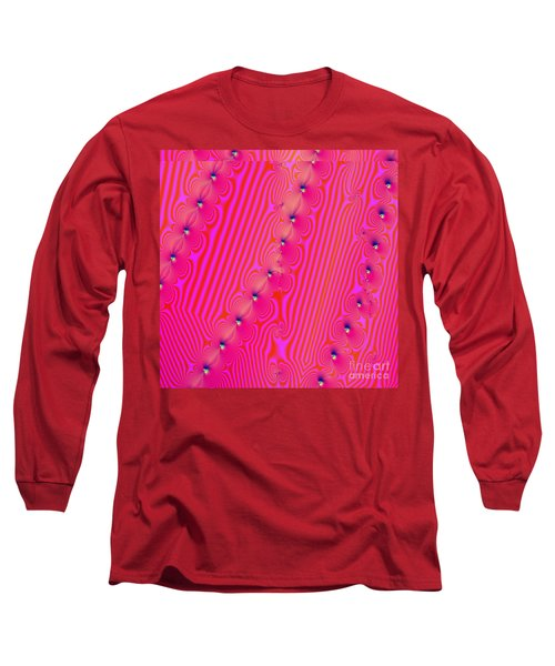 Long Sleeve T-Shirt featuring the digital art Beaded Pink by Luther Fine Art