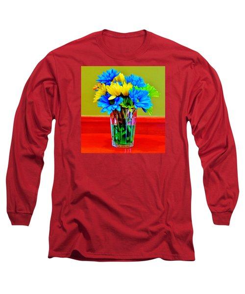 Beauty In A Vase Long Sleeve T-Shirt by Cynthia Guinn