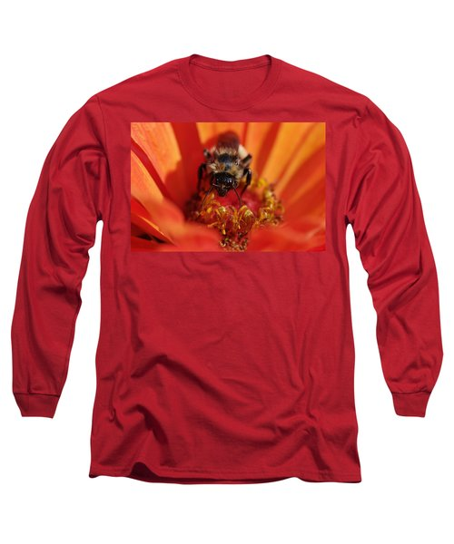 Bee Taking Care Of Business Long Sleeve T-Shirt by Greg Graham