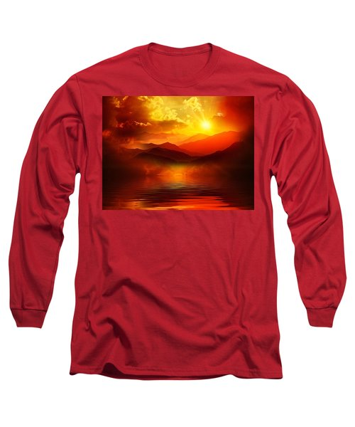 Before The Sun Goes To Sleep Long Sleeve T-Shirt by Gabriella Weninger - David