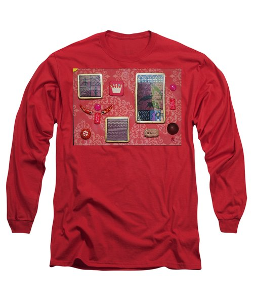 Believe Collage Long Sleeve T-Shirt