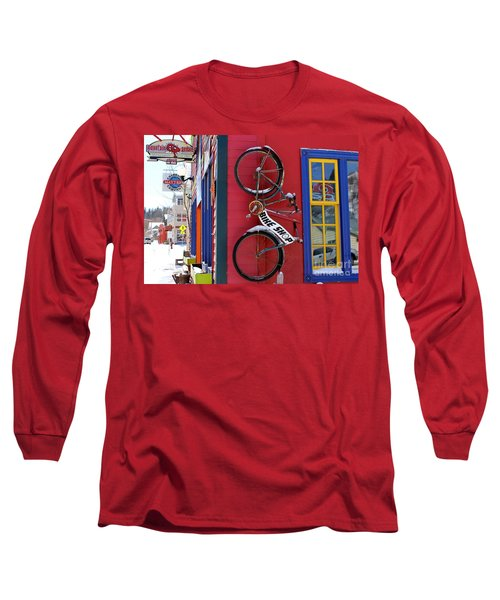 Bike Shop Long Sleeve T-Shirt by Fiona Kennard