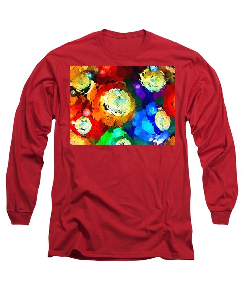 Billiard Balls Abstract Digital Art Long Sleeve T-Shirt by Vizual Studio