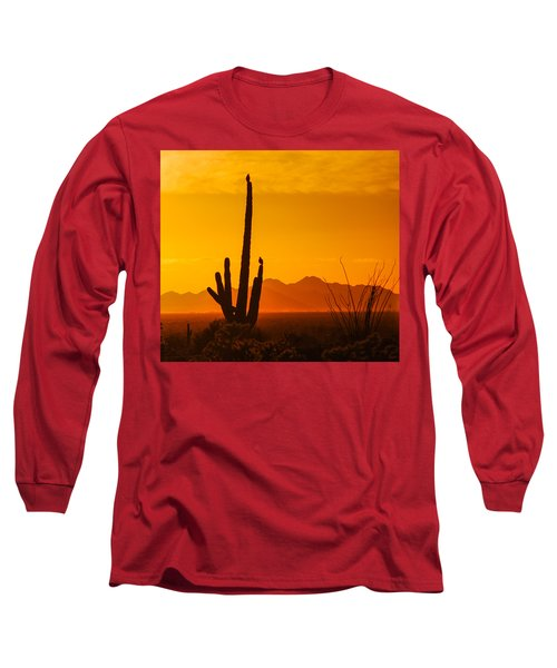Birds In Silhouette Long Sleeve T-Shirt