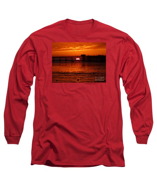 Blazing Sunset Long Sleeve T-Shirt by Vicki Spindler