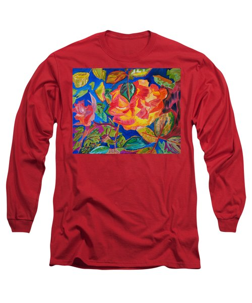Blossoms Aglow Long Sleeve T-Shirt by Meryl Goudey
