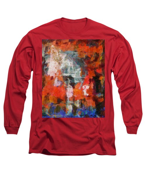 Long Sleeve T-Shirt featuring the digital art Blows Away In The Wind by Joe Misrasi