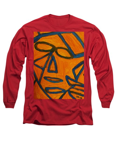 Blue And Orange Long Sleeve T-Shirt