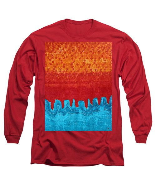 Blue Canyon Original Painting Long Sleeve T-Shirt by Sol Luckman