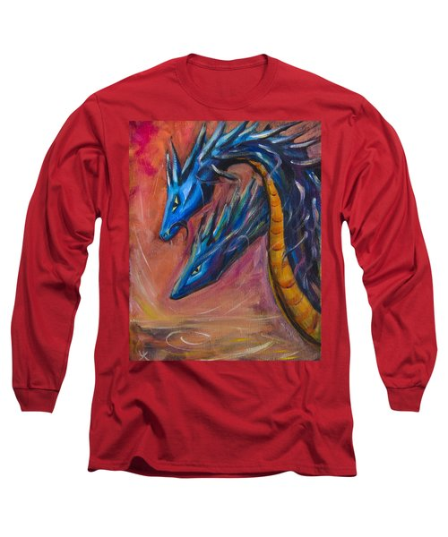Blue Dragons Long Sleeve T-Shirt by Yulia Kazansky