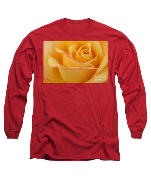 Blushing Yellow Rose Long Sleeve T-Shirt