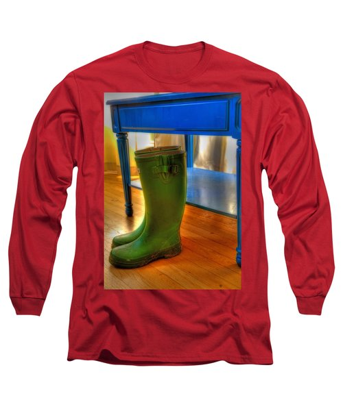 Boots Long Sleeve T-Shirt by Mark Alder