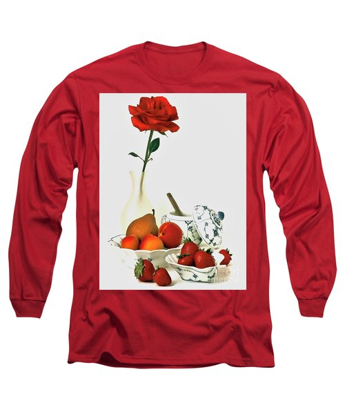 Long Sleeve T-Shirt featuring the photograph Breakfast For Lovers by Elf Evans